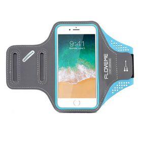 "Floveme Sports ArmBand for 5.5"" Smartphones - Blue"