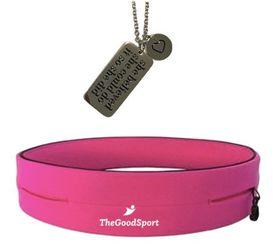 She Believed Necklace & Running Belt - Pink