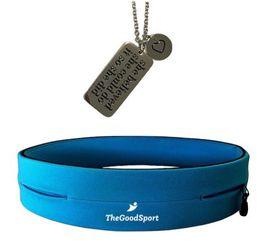 She Believed Necklace & Running Belt - Blue
