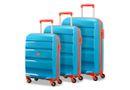 American Tourister Bon Air Luggage 3 Piece Set TSA- Blue/Orange