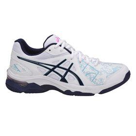 Women's ASICS Gel-Netburner Academy 7 Netball Shoes - White/Navy