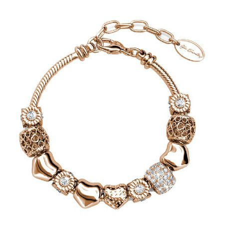 Destiny Ava Charm Bracelet With Swarovski Crystals Rose Gold