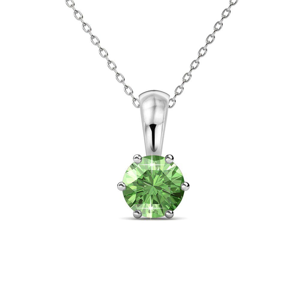 sterling round faceted peridot pendant product green necklace silver gemstone