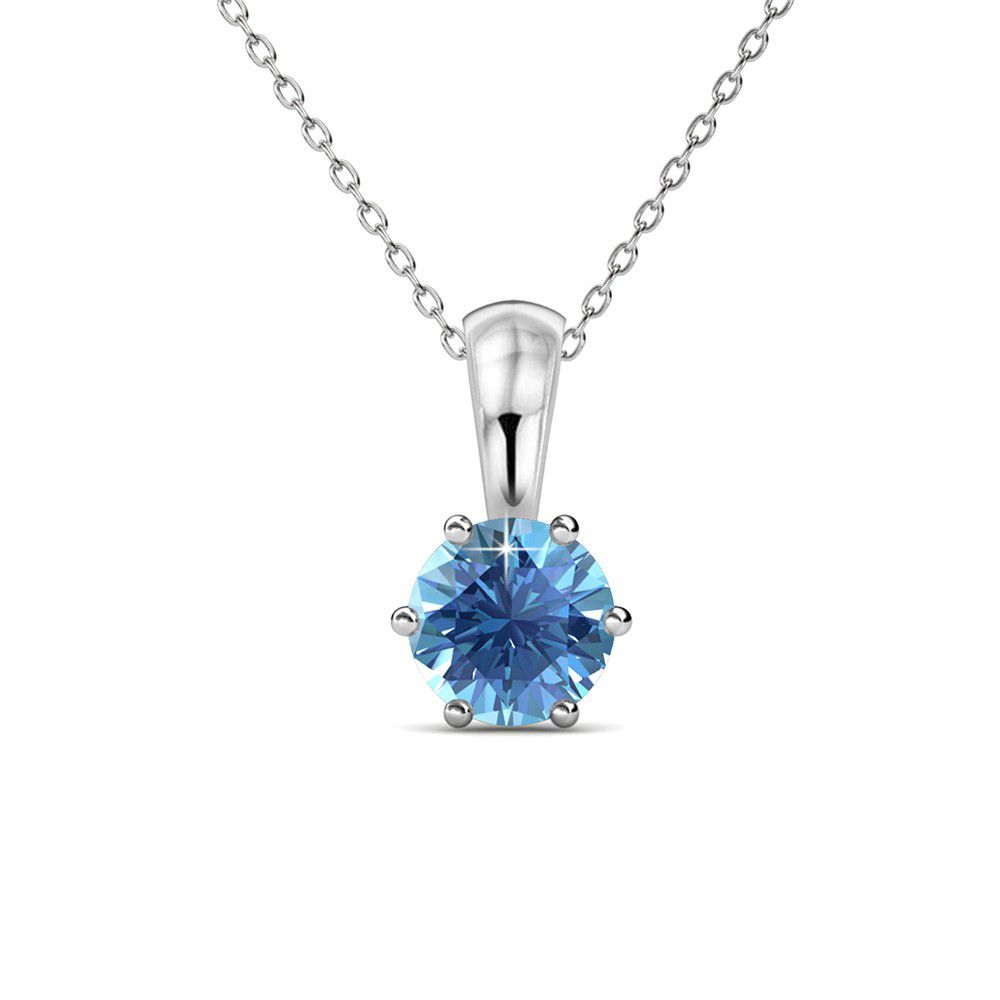 motion with signet in rose products necklace sparkle gold chain blue mini topaz