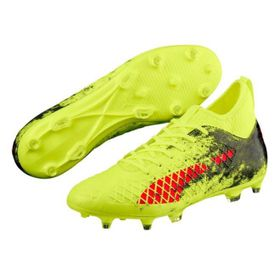 Men's Puma Future 18.3 FG AG Soccer Boots - Yellow/Red