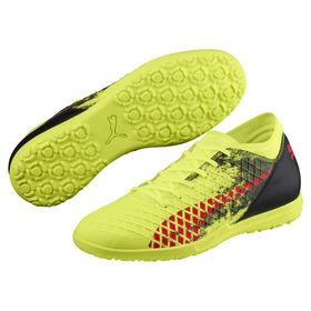 Men's Puma Future 18.4 TT Fizzy Soccer Boots- Yellow/Red