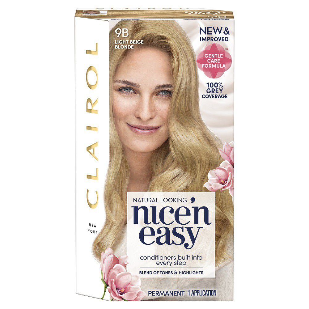 Clairol Nice N Easy Hair Dye Light Beige Blonde 9b Buy Online