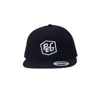 Peg 6 Panel Snapback Cap - Black