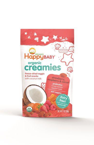 Happy Family - 8x 28g Creamies Strawberry, Raspberry and Carrot