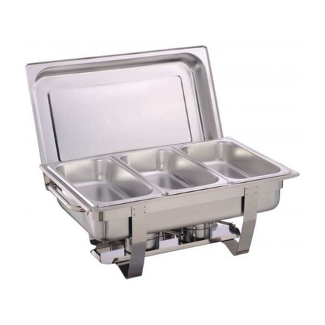 chafing dish with two triple pan burners | buy online in south