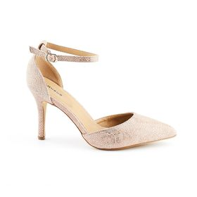 Queue Pointy Court Shoes - Pink
