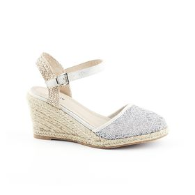 Queue Espadrille Wedge - Gold