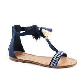 Queue Tassel Sandals - Navy