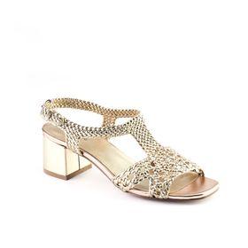 Queue Block Heels - Rose Gold
