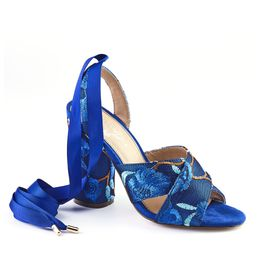 Wild Alice Block Heels - Navy