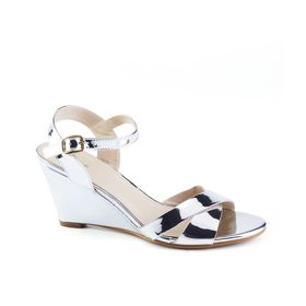 Queue Glamour Wedge - Silver