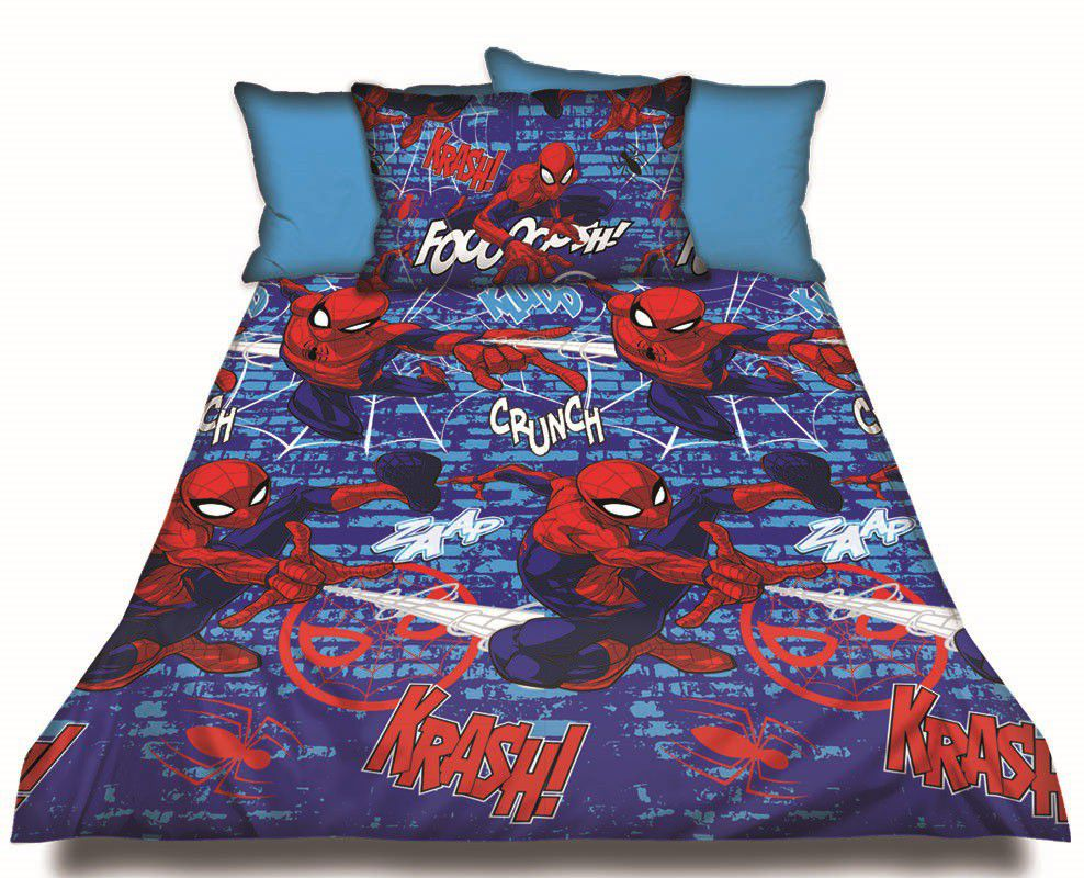 Spiderman Double Duvet Cover Set Loading Zoom