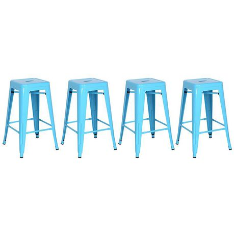 Brilliant Tolix Kitchen Stool Blue Set Of 4 Buy Online In South Pabps2019 Chair Design Images Pabps2019Com
