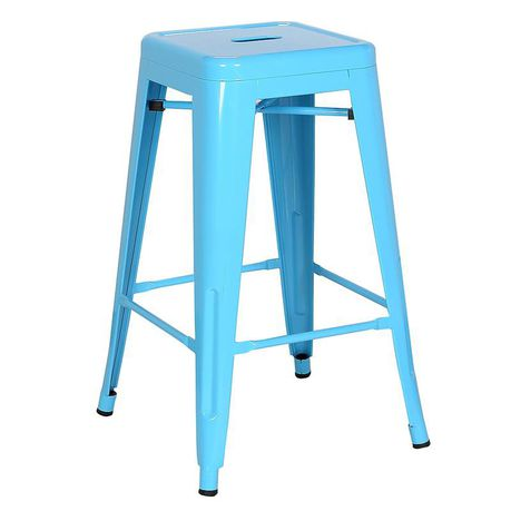 Magnificent Tolix Kitchen Stool Blue Set Of 4 Buy Online In South Pabps2019 Chair Design Images Pabps2019Com