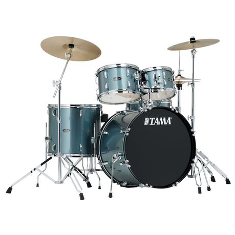 Tama Stagestar 5-Piece Drum Set with Cymbals - Silver