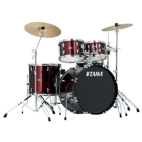 Tama Stagestar 5 Piece Drum Set With Cymbals Red Buy Online In