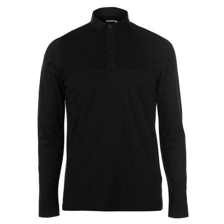 4dd45c949 Firetrap Men's Ripple Long Sleeve Polo Shirt - Black | Buy Online in ...