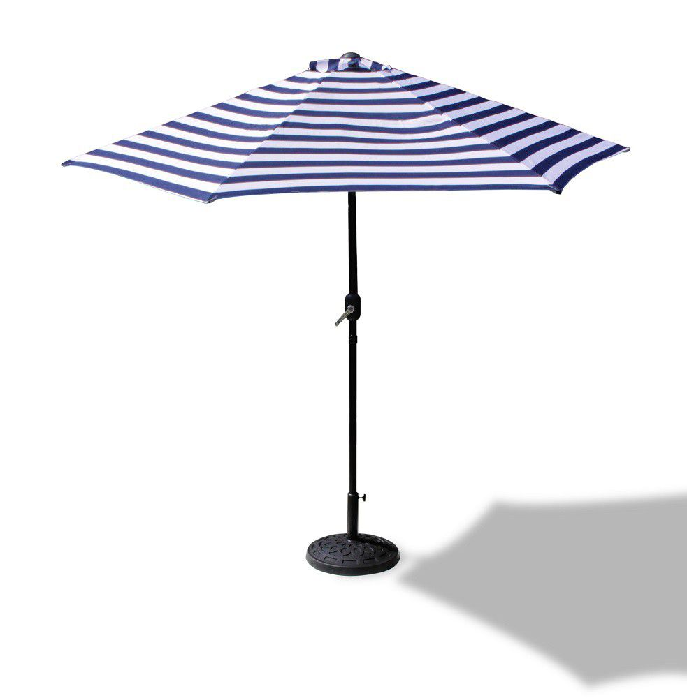 Fine Living   Vogue Patio Umbrella   Navy/White Stripe