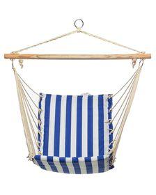 Campground Cotton Striped Hammock - Blue & White