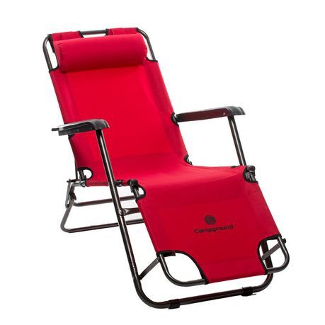 Campground Recliner Folding Chair Red Online In South Africa Takealot