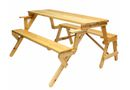 Campground Interchangeable Picnic Table And Garden Bench