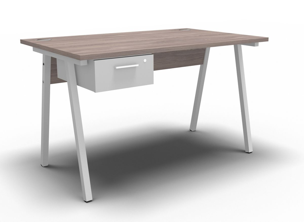 A Frame Desk With Single Drawer 1200mmx750mm Loading Zoom