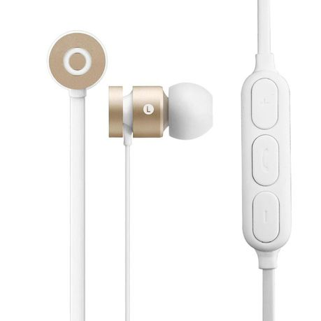2239d087684 Volkano Mercury Bluetooth Earphones - Gold & White | Buy Online in South  Africa | takealot.com