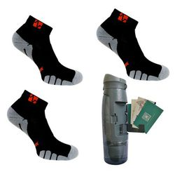 Vitalsox Men's 3 Pack Socks & Bottle - Night Black