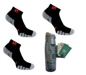 Vitalsox Men's 3 Pack Socks & Bottle - Night Black