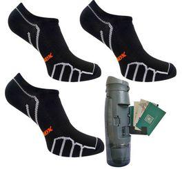 Vitalsox Men's 3 Pack Socks & Bottle - Super Black