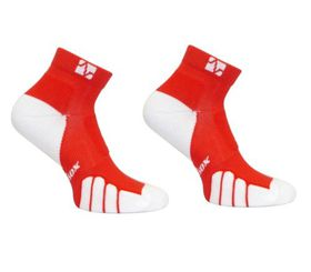 Vitalsox Men's Running Socks - Red (Size: 6 - 8.5)