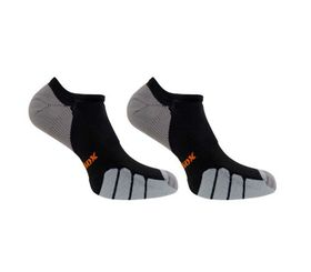 Vitalsox Men's Running Socks -  Black (Size: 4 - 5.5)