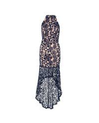 a3b2afc36d Quiz Crochet High Neck Dress - Navy   Nude