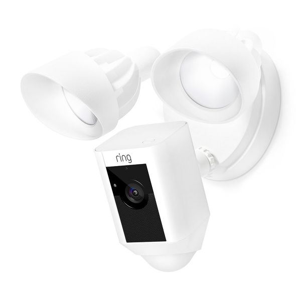Ring Floodlight Security Camera  - White