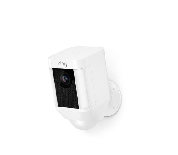 Ring Spotlight Battery Operated Security Camera  - White