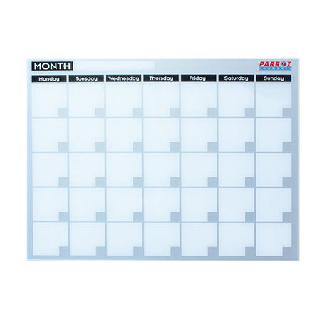 parrot monthly planner cast acrylic 600 x 450mm buy online in