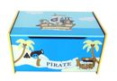 Kiddi Style Pirate Wooden Treasure Chest Toy Box - Brown