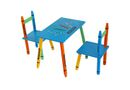Kiddi Style Crayon Themed Wooden Table & Chair - Blue