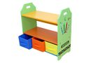 Kiddi Style Crayon Wood Shelves with Storage Boxes - Green
