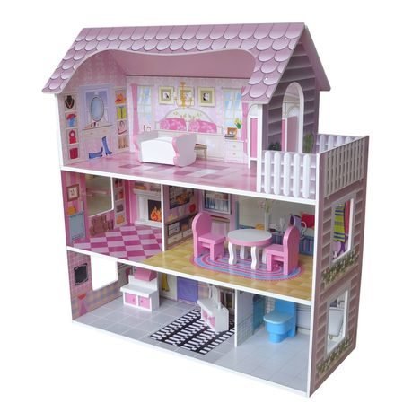 Kiddi Style Wood Victorian Doll House With Furniture Buy Online In