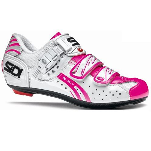 Sidi Women's Genius 5 Fit Carbon Cycling Shoes - White/Pink