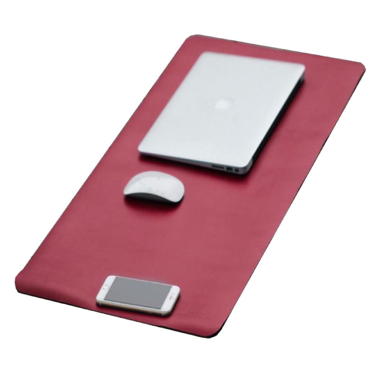 Office Leather Desk Mat Mouse Pad Black Red