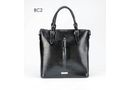 Brad Scott Leather Frenchie Tote - Black