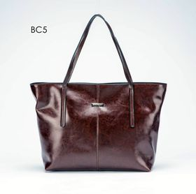 Brad Scott Leather Tote - Brown