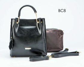 Brad Scott Leather Bucket Bag With Sling - Black